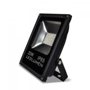 LED reflektor 20W SMD2835 1800lm SLIM STUDENÁ